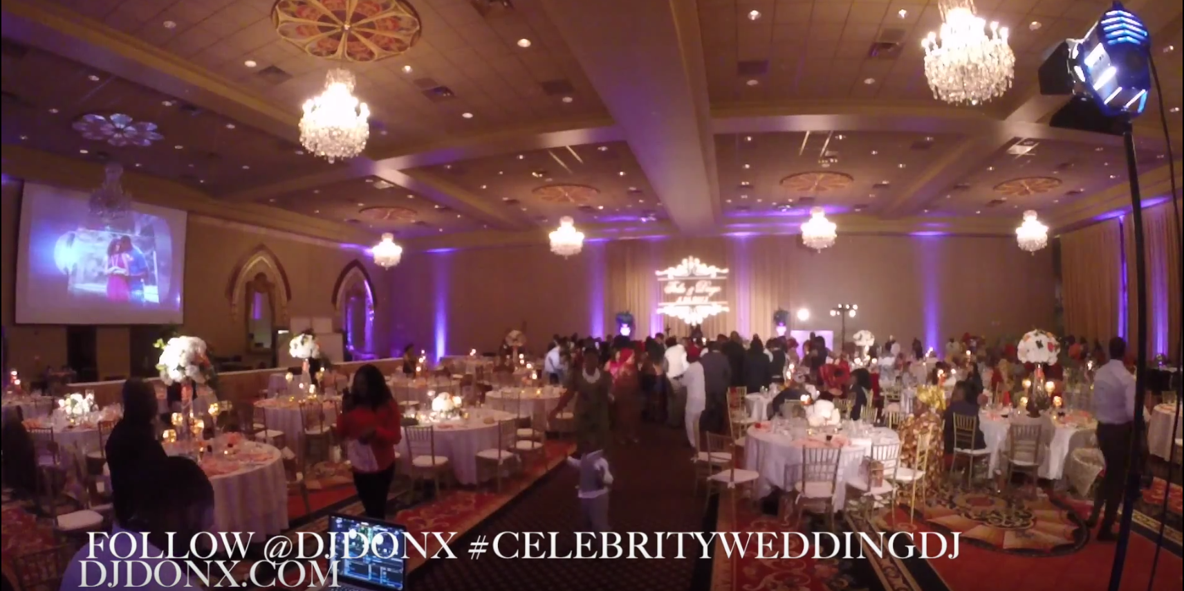 DJ Don X at an upscale wedding in DC